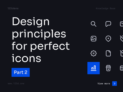 Design principles for perfect icons | Part 2 123done universal icon set iconset icon pack icon design symbol iconography icon system glyph vector icons icon set icons icon tutorial education guide tips