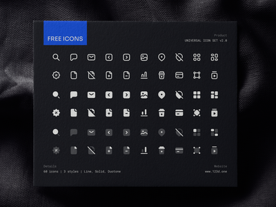 Universal Icon Set v2.0 | Preview 123done universal icon set freebie free sample preview icon pack icon design icon system icon icons iconset icon set figma vector icons gluph clean minimalism iconography symbol