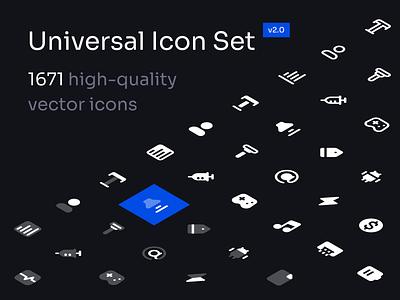 Universal Icon Set v2.0 123done universal icon set iconset icon pack icon design symbol iconography icon system glyph vector icons icon set icons icon figma iconjar minimalism clean paper ux ui