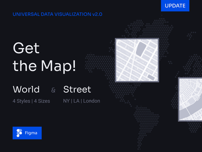 Get the Map! 123done universal data visualization figma component graph dashboard dataviz chart data visualization data infographic ui street map street world map world location maps map