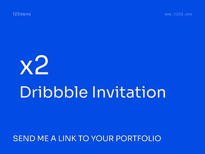2 Dribbble Invitations dribbble invite 123done invite giveaway draft dribbble invitations invitations invites