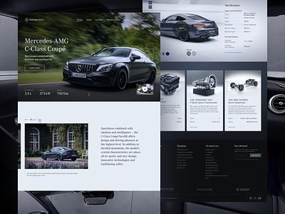 Mercedes-AMG C-Class Page Concept website web figma page automobile minimalism minimal mercedes car interface design clean ux ui