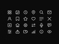 Minimalistic Icon Set | Freebie