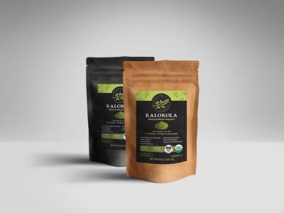Kalokola Label design label packaging drink powder vegan organic natural healthy leaf tree moringa