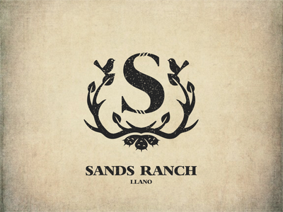 Sands Ranch leaves letter birds llano horns grunge farm nature ranch s