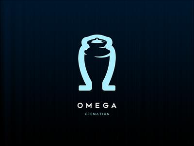 Omega Cremation death blue funeral urn cremation omega