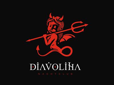 Diavolina hair removal bat clubbing night club devil horns pitchfork red little she devil devil girl devil diablo diavolo diavolina