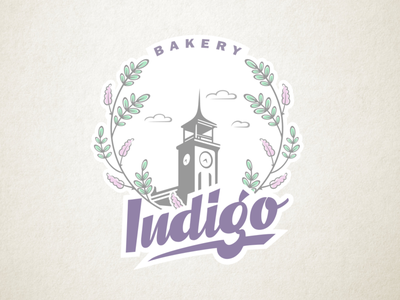 Indigo Bakery cake pastry church leaves indigo plant indigo bread bake bakery