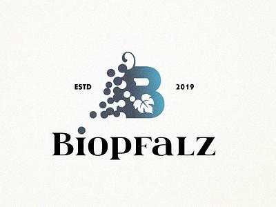 Biopfalz vineyards vineyard vine shop drink blue grain leaf type letter b letter vegan organic bio vine wine grapes