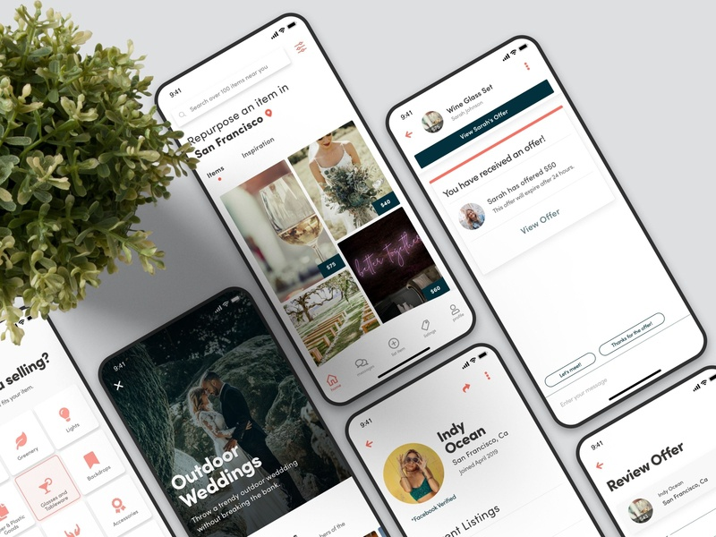 Sellebrate – Mobile App for iOS & Android (2/2) android app design ios app design marketplace app marketplace mobile app mobile ui android ios design react native app design app ux ui