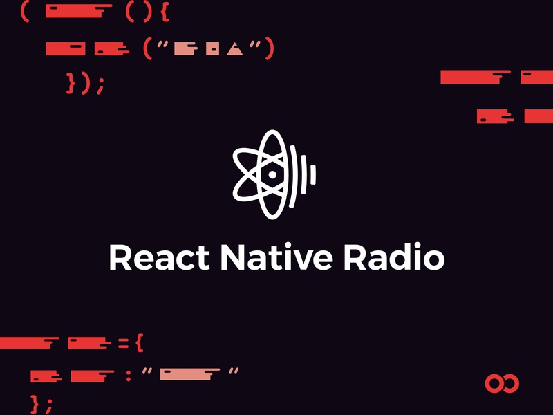 React Native Radio – Now an Infinite Red podcast agency graphic design design radio branding design podcasts react native branding