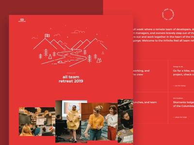 all treat site remote work meetup retreat scroll animations webflow layout landing page illustration website design website