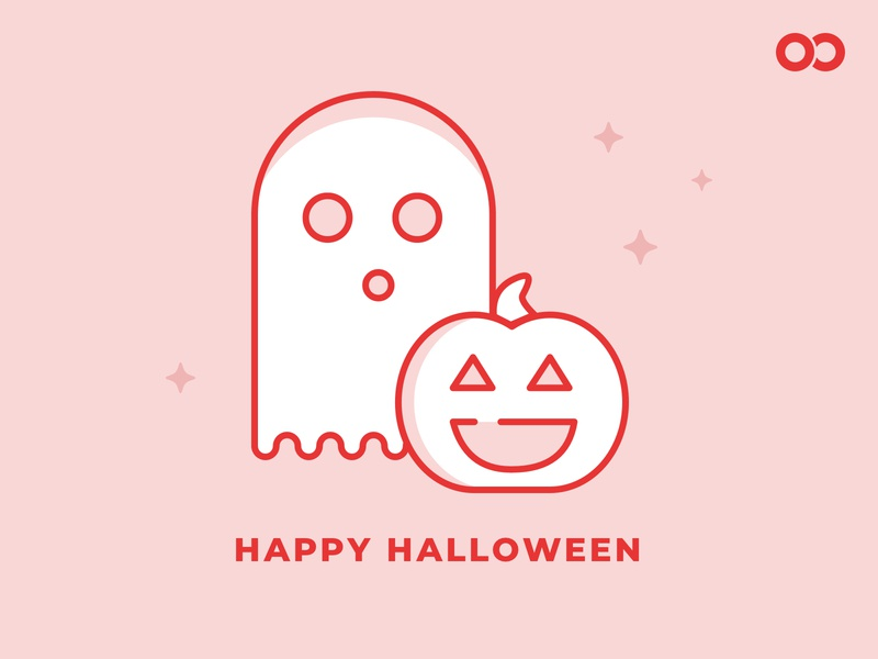 Happy Halloween from Infinite Red pumpkin ghost halloween bash halloween design holiday icon illustration halloween