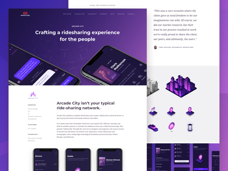 Arcade City Case Study profile icons isometric icons isometric illustration isometric design illustration dark theme android app iphone x app design design agency case study crypto currency rideshare