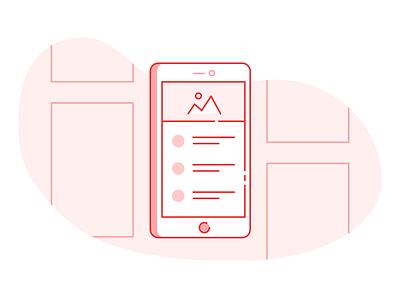 Rapid Prototyping prototyping wireframe phone graphic app designer design agency agency web design design app screens design process iteration wireframes process design ux ui illustration