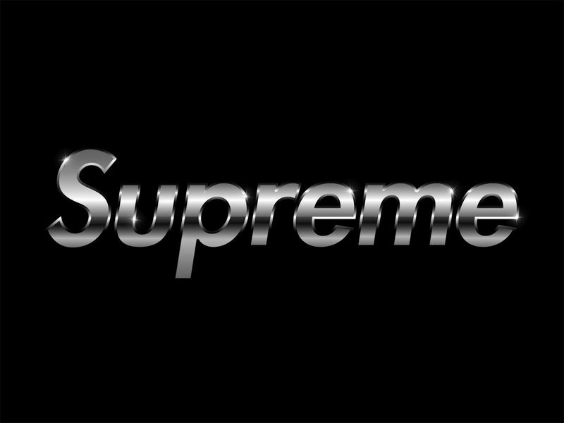 Supreme logo gradients gradient typedesign brand typography art 80s metallic metal gray grey black photoshop hype hypebeast supreme typography typeface type