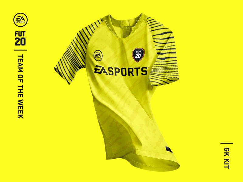 EA SPORTS - FIFA 20 Ultimate Team (FUT20) Kit Design kit design fashion soccer goalie goalkeeper fifa yellow jersey design footballer football kit football jersey kit easports ea