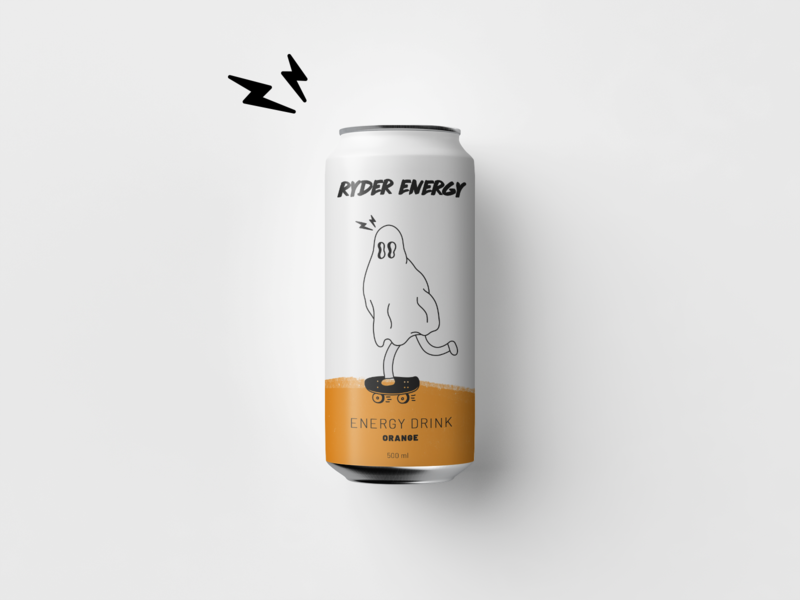 Ryder Energy Drink dribbbleweeklywarmup character packaging design packaging graphic design line branding design skateboard drawing monoline illustration