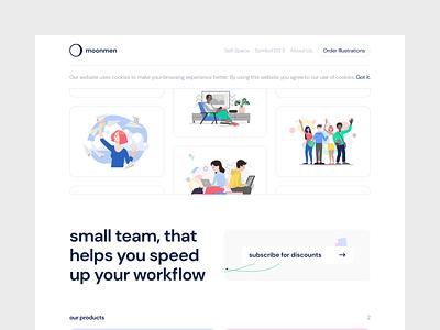 moonmen.design giveaway pages web design web moonmen subscribe illustrations ux ui