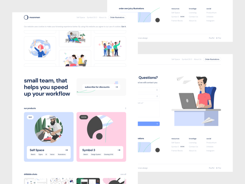 moonmen.design giveaway pages web design web moonmen subscribe illustrations ux ui