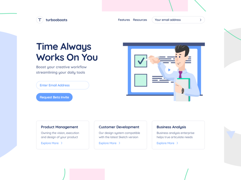 Self Space Illustrations management moonmen ux ui web product design
