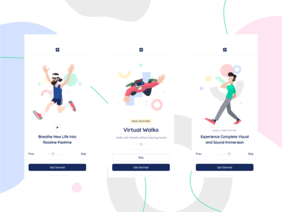 Self Space Illustrations ux ui moonmen walkthrough app mobile