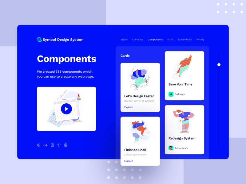 Symbol Design System 2 hero components blocks adaptive ux ui symbol minimal light design system design craftwork access