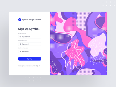 Symbol Design System 2 image sketch interface web light components blocks ux ui symbol minimal design system design craftwork