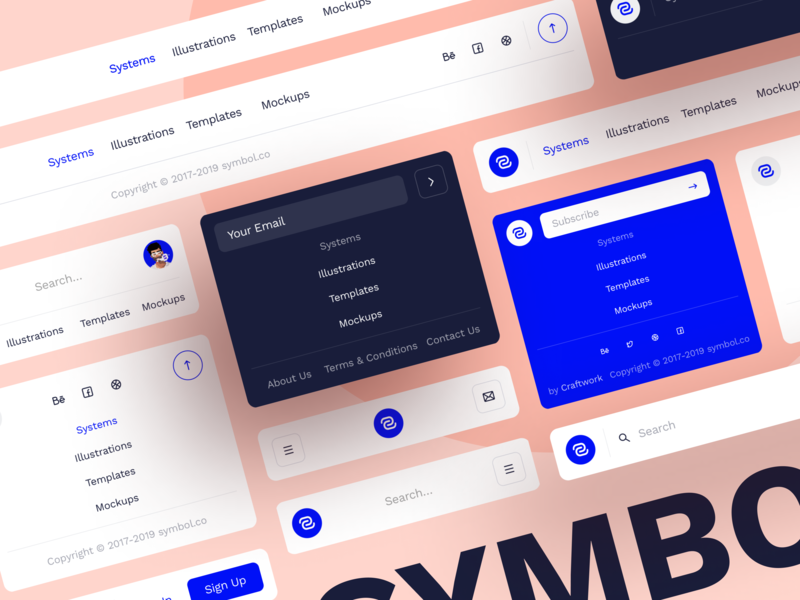 Symbol Design System 2 blocks ui design navigation adaptive web sketch interface components ui ux symbol design system design craftwork