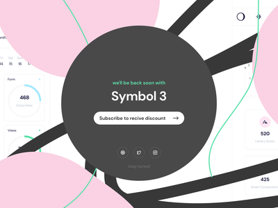 Symbol Design System 3 blocks moonmen subscribe teaser symbols smart symbols components sketch ux ui symbol design system