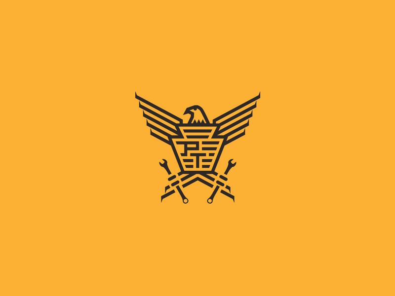 Piston Trigger branding design logo