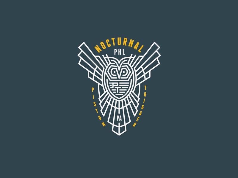 Piston Trigger icon flat logo trigger piston phl owl nocturnal