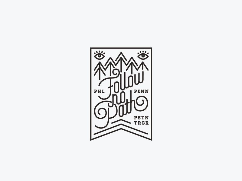 Piston Trigger path follow phl piston typography icon branding design logo