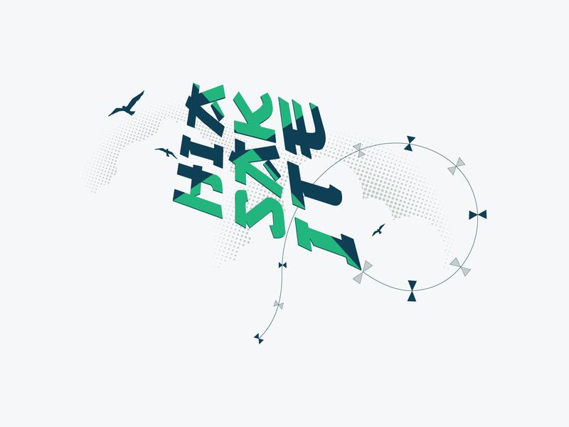 Kite birds fly high kite sky flat illustration icon logo