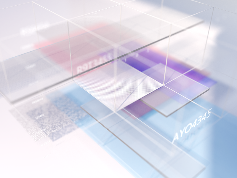Glassy Lux C4D visualization web clean visual illustration glass ai 3d c4d