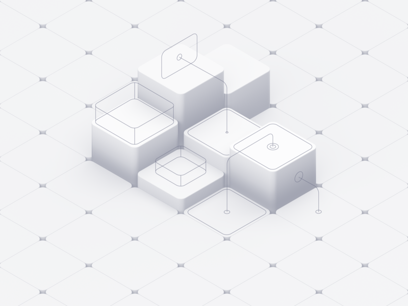 ISO Still daily white isometric flat c4d 3d illustration