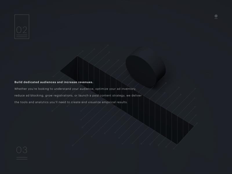Landing page example abstract c4d 3d landingpage web ui ux design branding