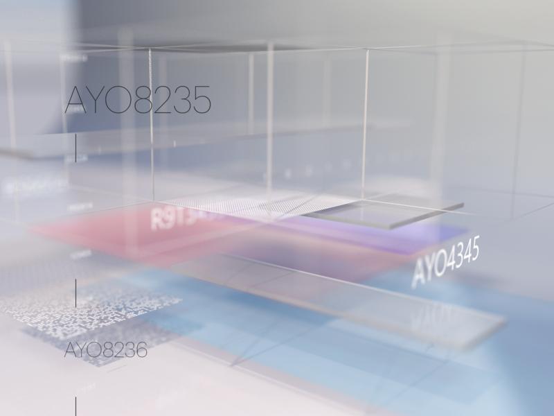 Glassy surfaces abstract 3d c4d website web app ux design