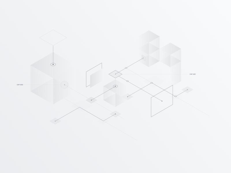 Iso nodes whitespace web diagram lines nodes isometric 3d vector flat illustration design