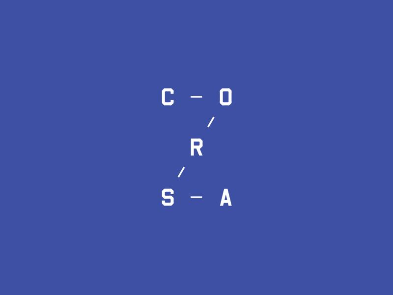 Corsa Coffee flat corsa coffee typography icon illustration design logo