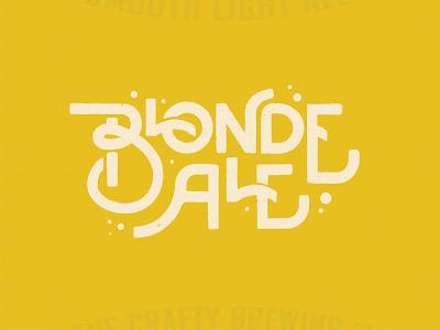 Blonde Ale logotype illustration drinking custom typography label logo alcohol drink craft beer blonde ale