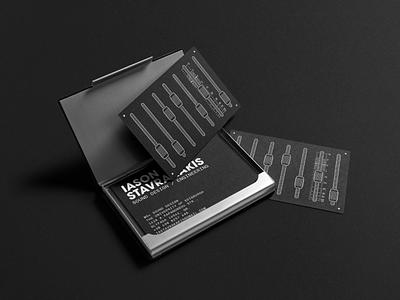 Iason Stavrakakis - Business Cards silkscreen business card sound design