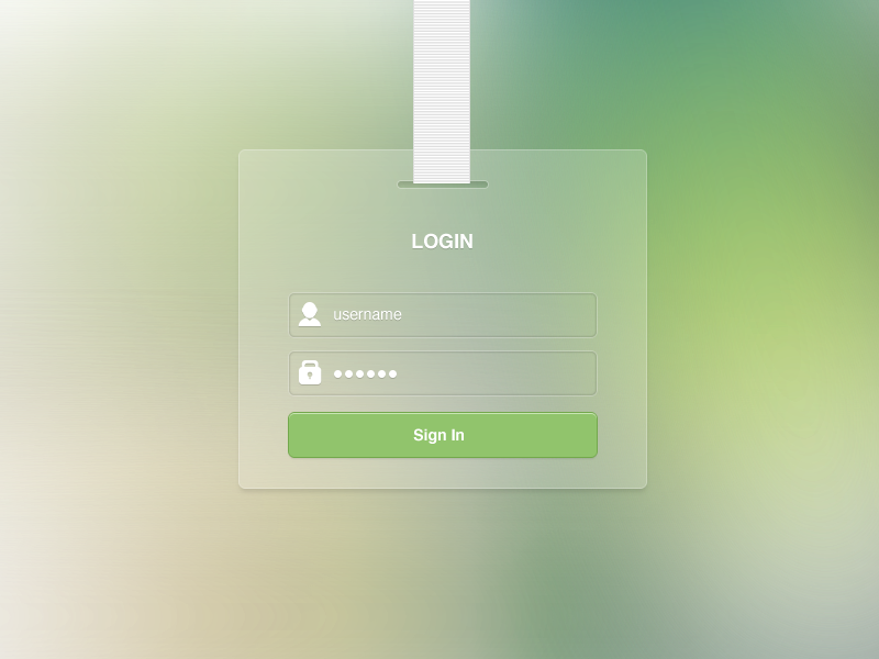Login Free PSD by joinfox on Dribbble