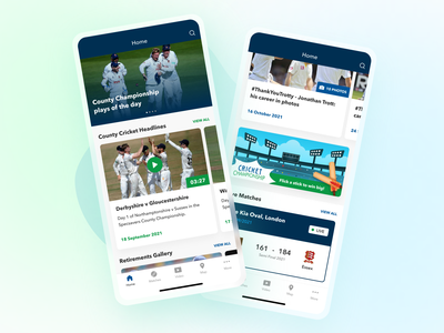 Sports App cricket mesh gradient sports gradient ui app
