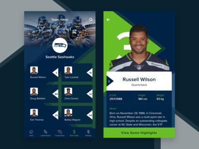 Football App - Team Roster