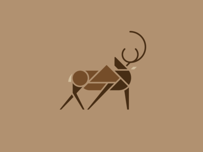 100 Mile Wild, Elk geometric deer moose appalachian trail at 100 mile maine elk