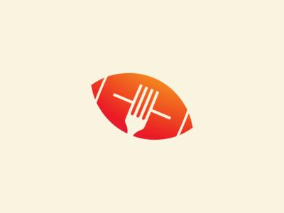 Foodball foodball fork ball fork geometric simple illustration foot blog blog sport blog sports logo football logo football