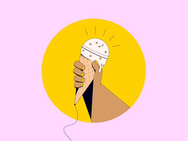 Talking About Ice Cream geometric illustration illustrator ice cream icecream