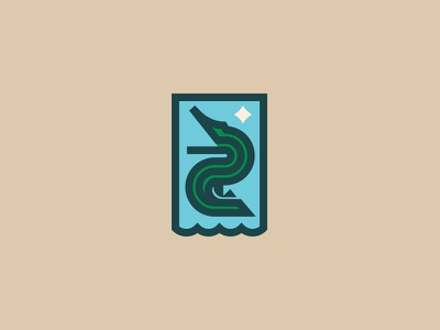 Everglades Patch simple line vector logo geometric patch national parks florida geomety everglades