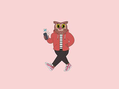 Owl vector temple university philadelphia illustration